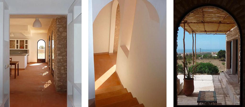 escalier construction maison maroc
