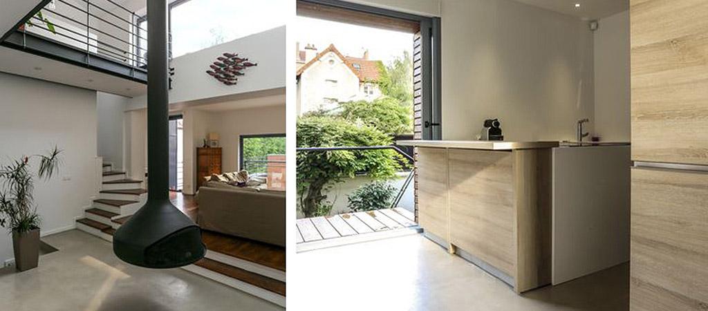 cuisine maison etages architecte