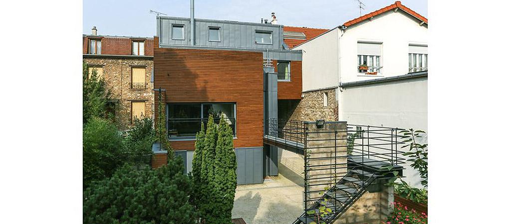 jardin facade maison architecte