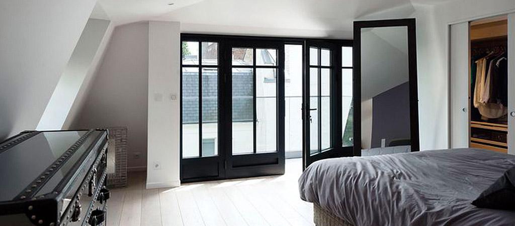 chambre parentale villa architecte