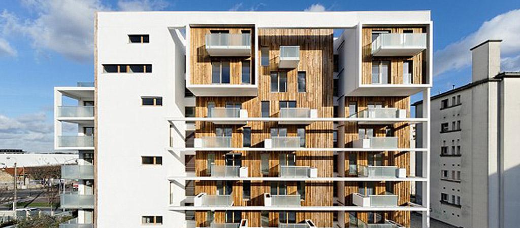 facade architecture logements bois