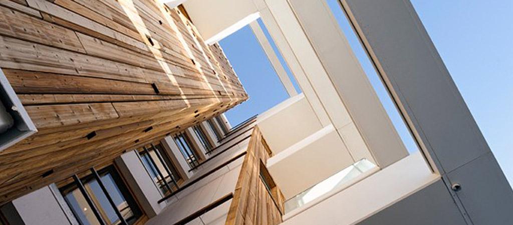 ouverture facade bois logements