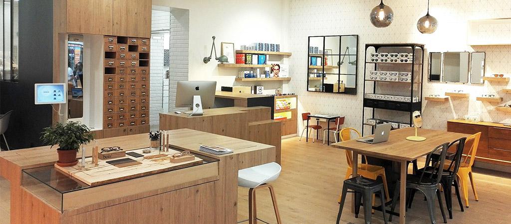 architecture rénovation boutique opticien