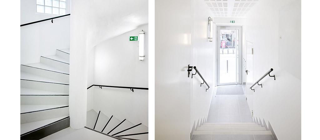 logements palier escalier architecte