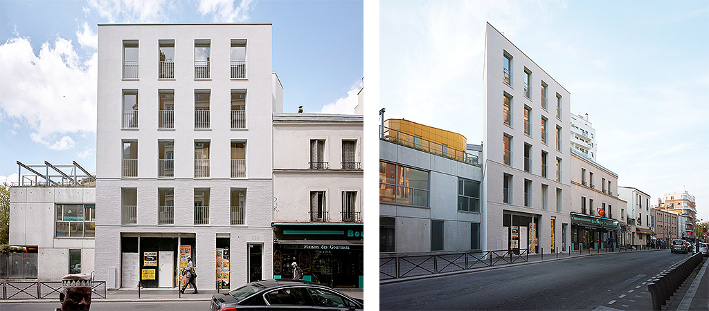 facade logements collectifs contemporain