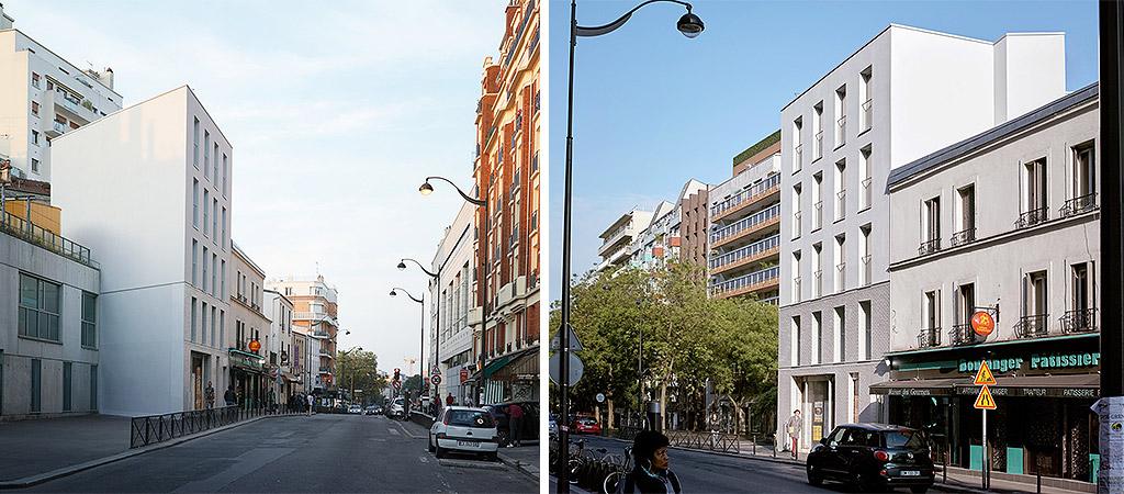 architecture facade logements ville
