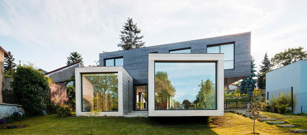 facade maison beton architecte
