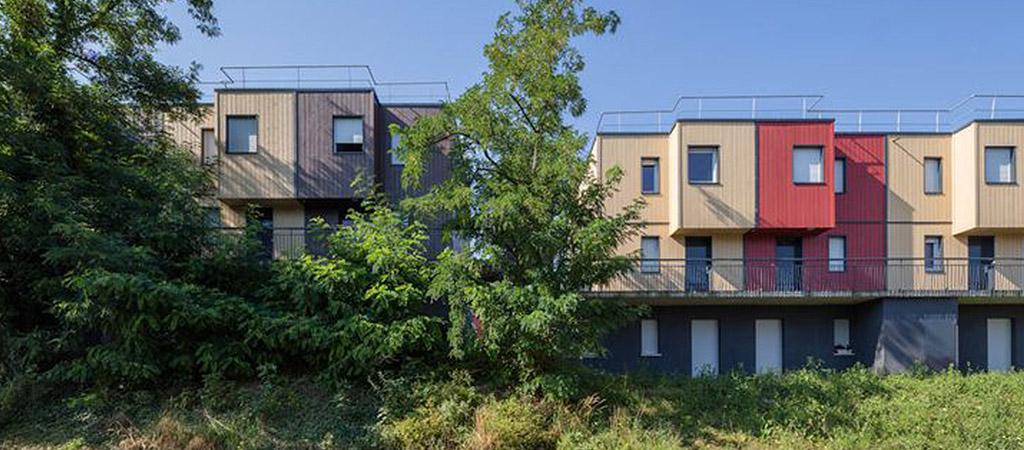 facade logements moderne architecture
