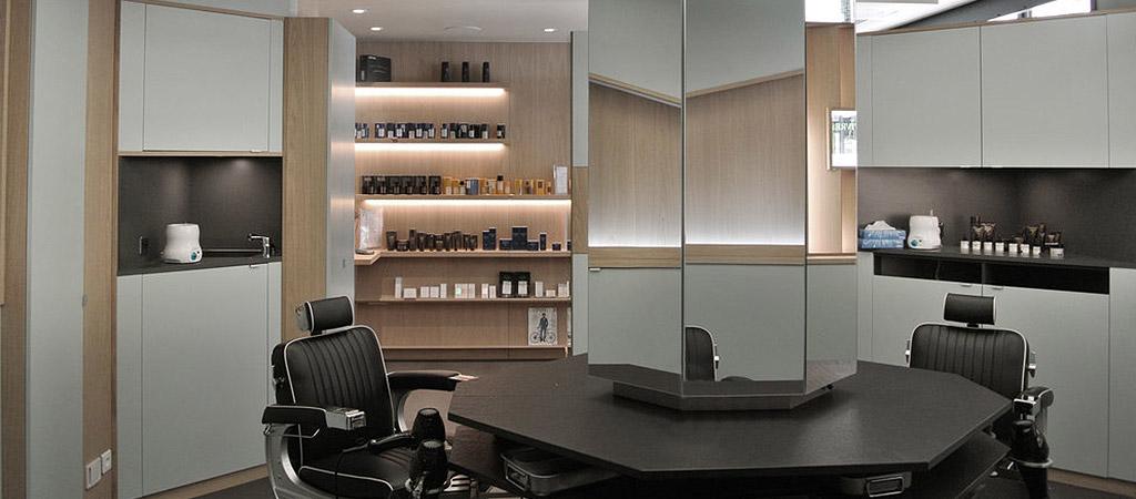 boutique barbier moderne architecte