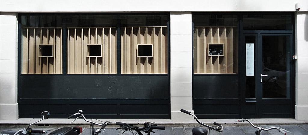 facade moderne noir bois