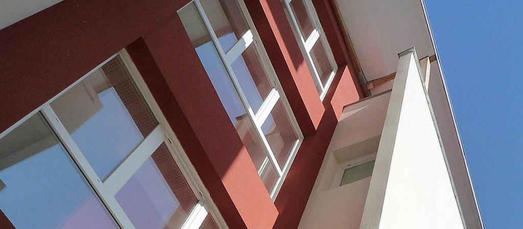 fenetres facade logements ville